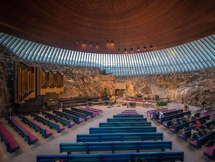 Temppeliaukio church things to do in Helsinki