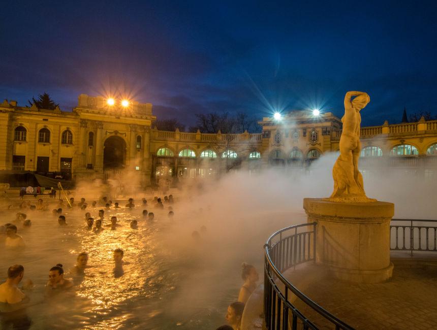 szechenyi baths evening