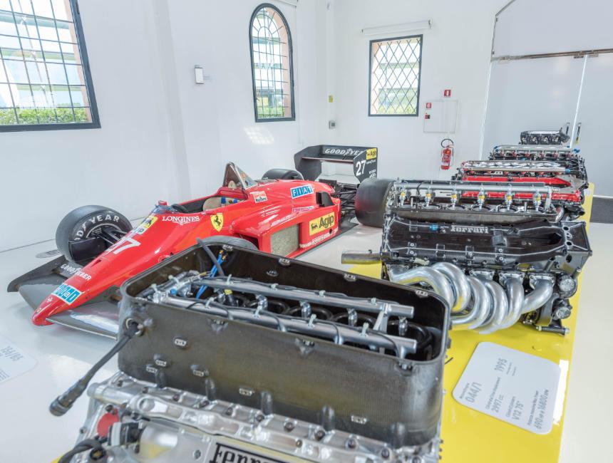 enzo ferrari museum modena engines