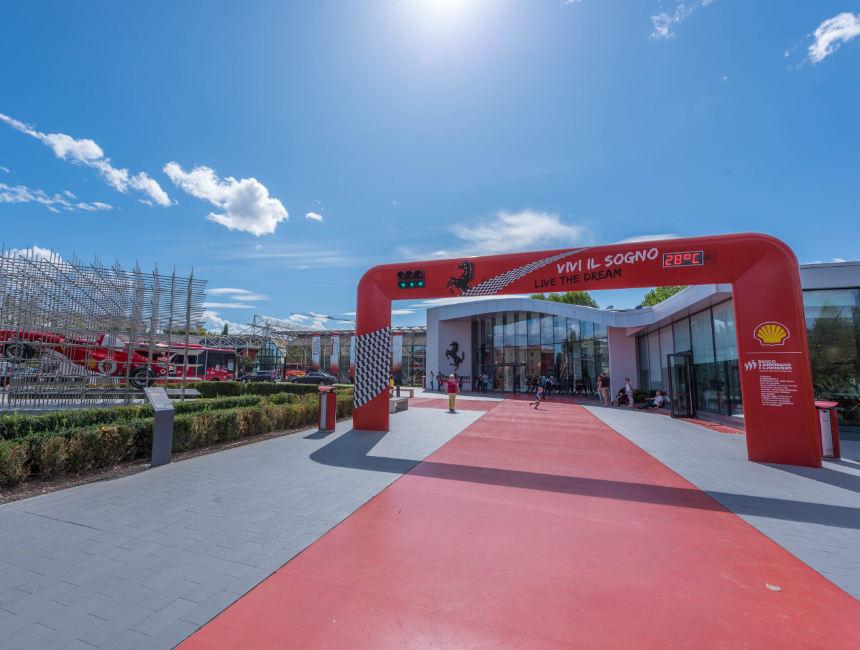 Ferrari museum Maranello entrance