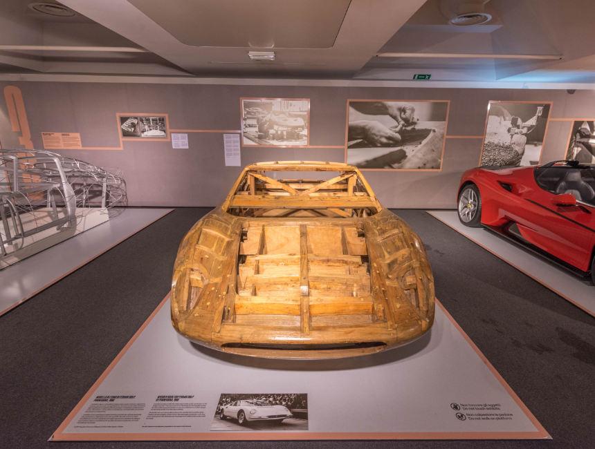 wood frame ferrari museum maranello