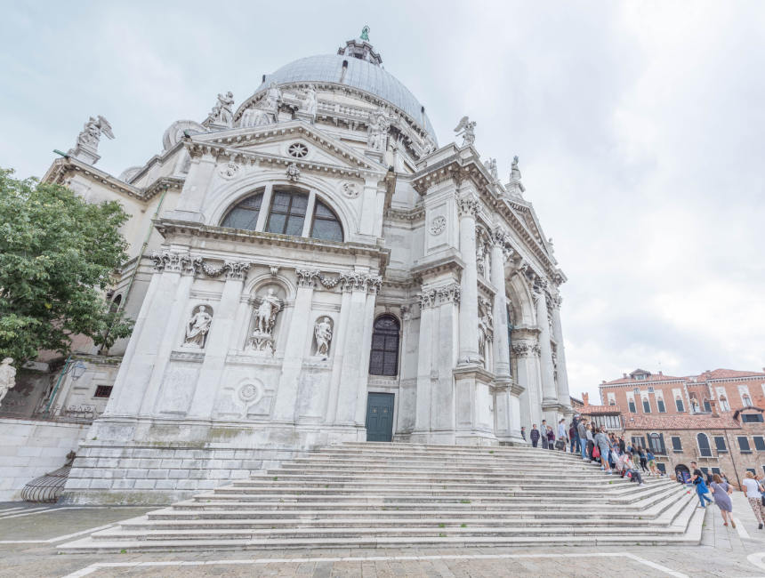sights in venice : basilica of santa maria della salute