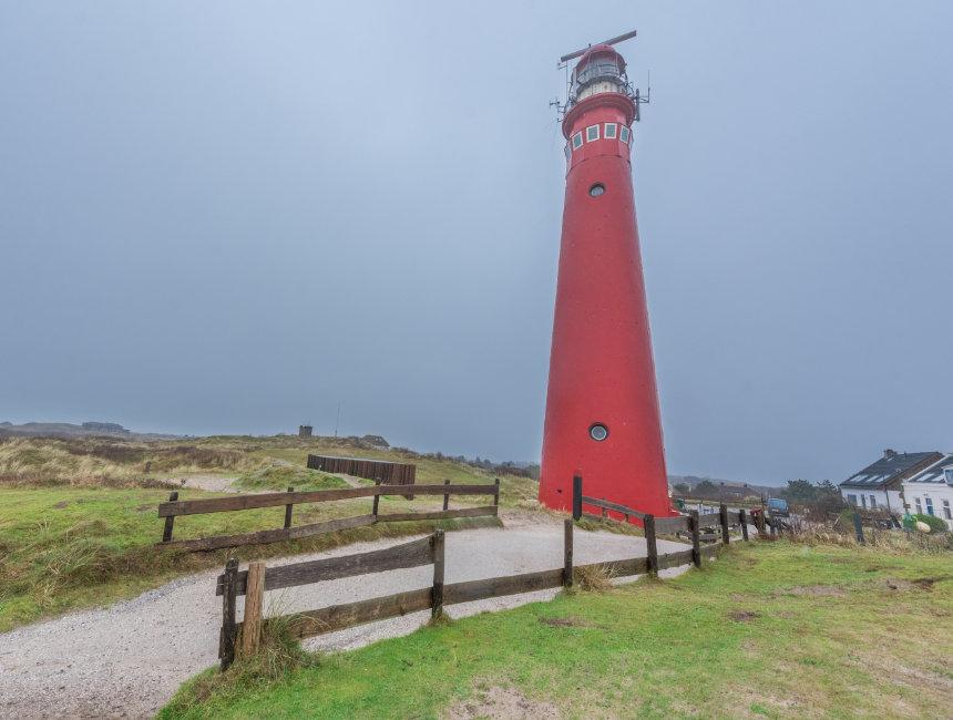 lighthouse schiermonnikoog red noordertoren