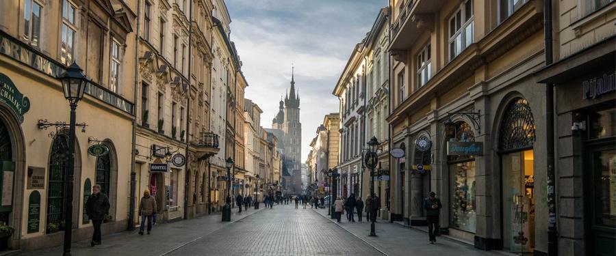 krakow stare miasto shopping streets