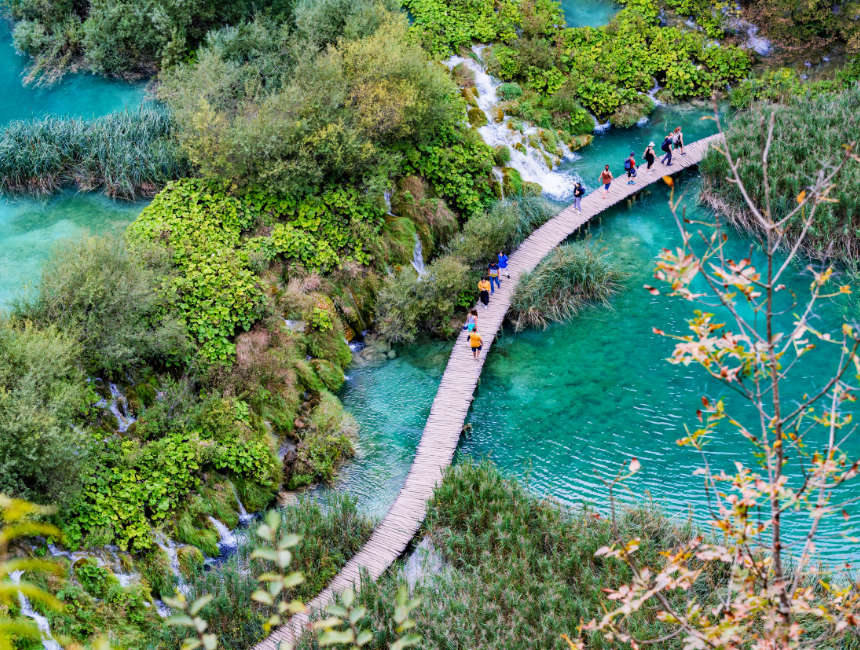 Plitvice lakes view from above