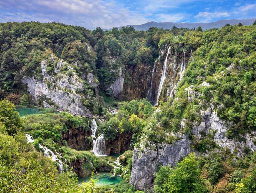 waterfalls plitvice view