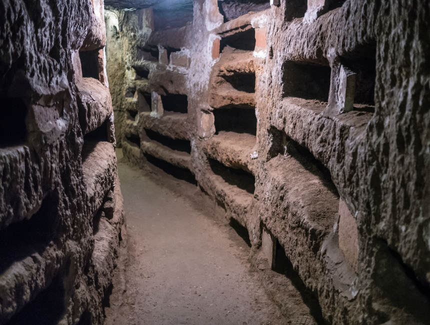 Visit catacombs of rome
