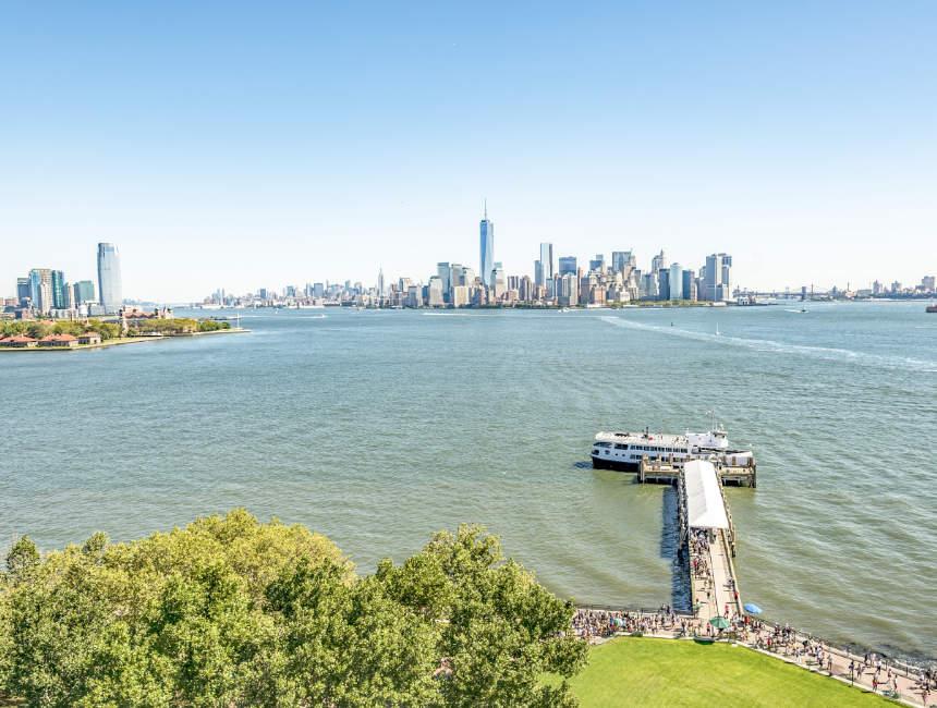 statue of liberty trip skyline new york