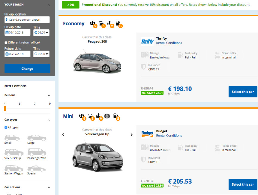 Car Hire In Norway A Must Do Cheap Rental Cars In Norway Tips