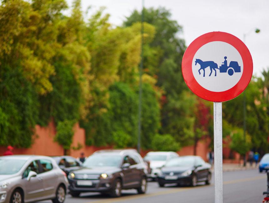 traffic rules morocco