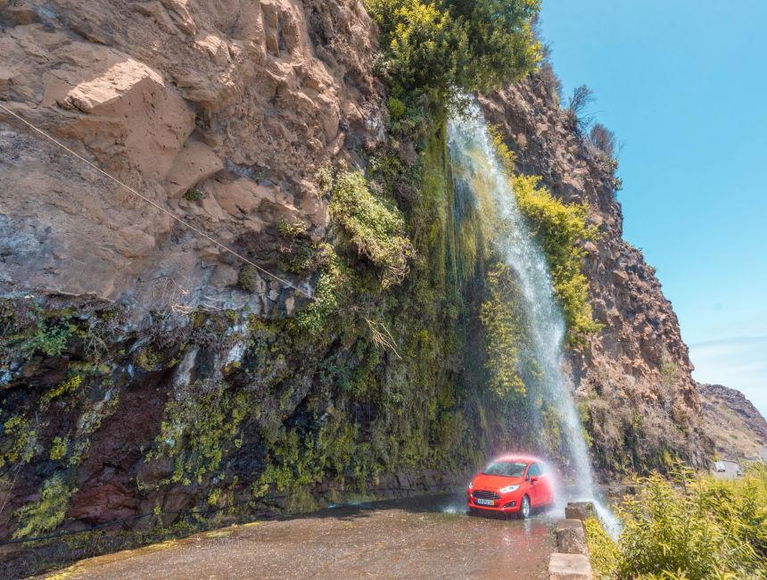 waterfall road madeira car hire