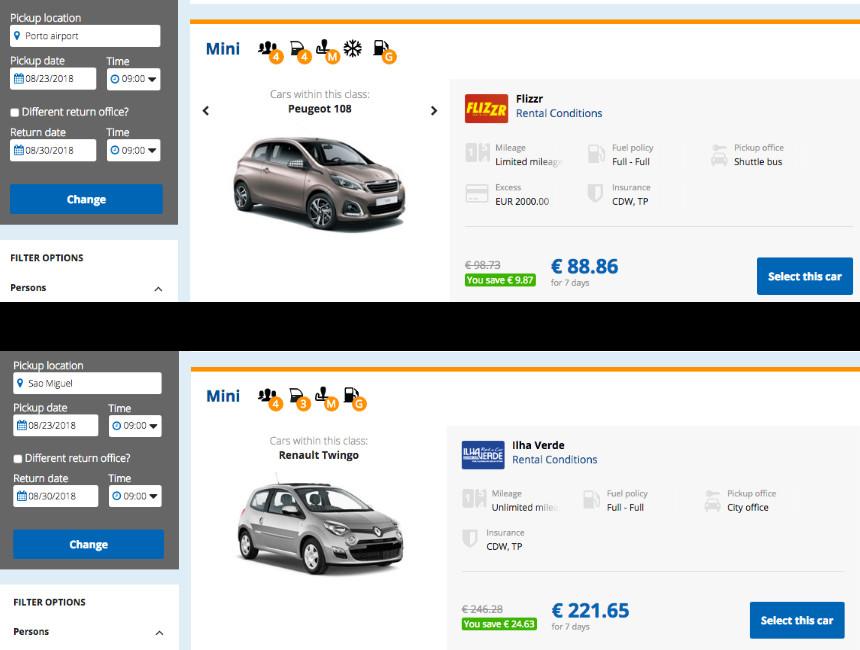 rental car portugal holidaycars