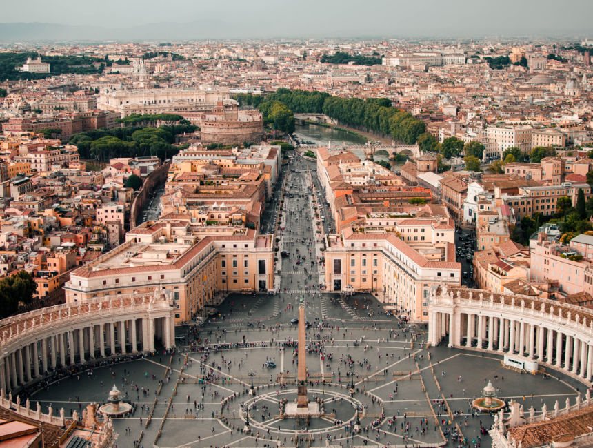 view saint peters basilica dome