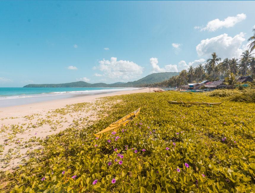 nacpan beach philippines palawan