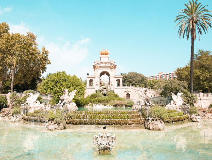 Cascada fountain ciutadella park barcelona