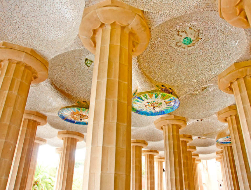 hypostyle hall park guell what to see