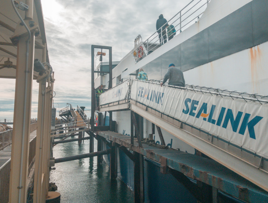 sea link ferry getting to kangaroo island