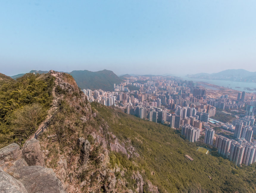 hong kong hiking lion head rock