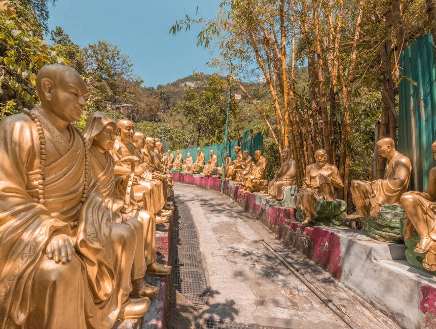monastery of the ten thousand buddhas hong kong