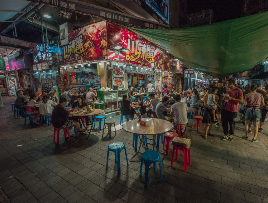 street food hong kong temple street