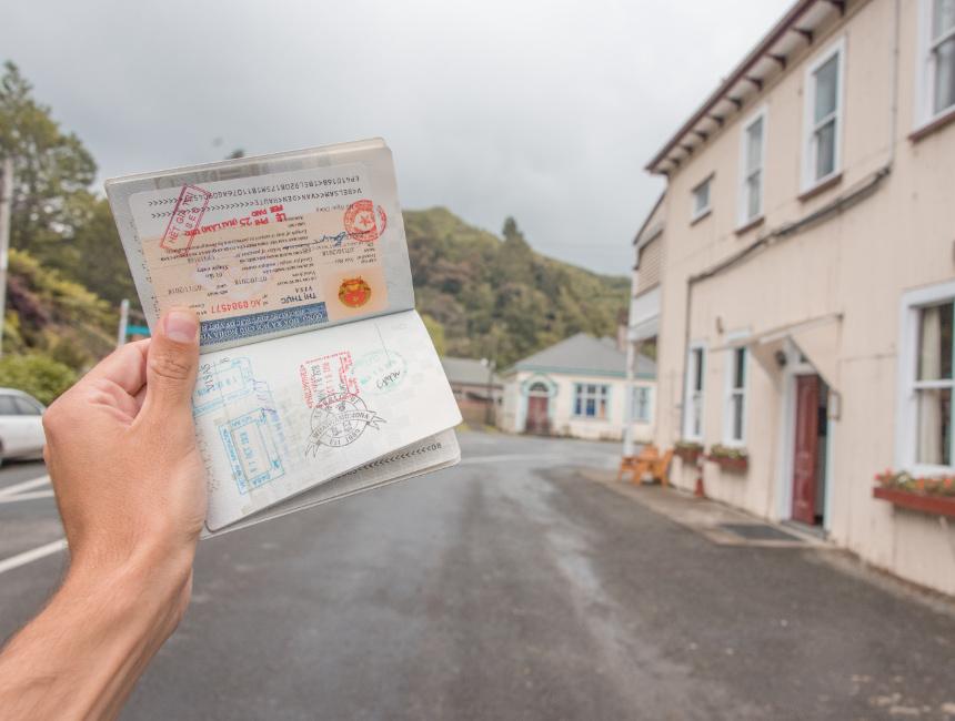 forgotten world highway whangamomona stamp