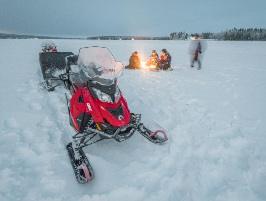 snow scooter Rovaniemi