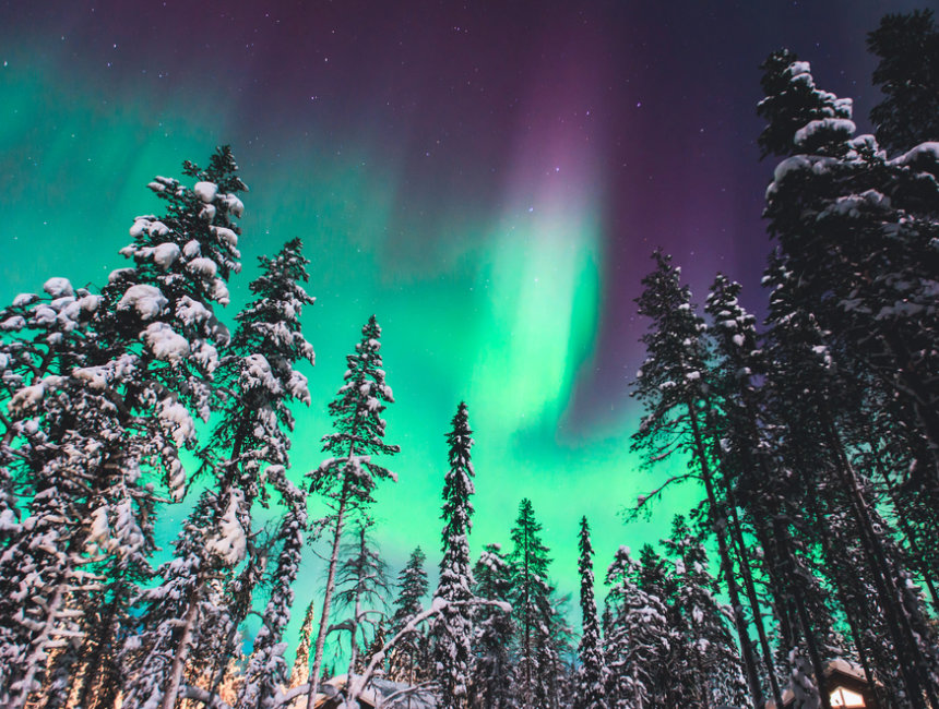 Trip to Lapland to see Santa Northern Lights
