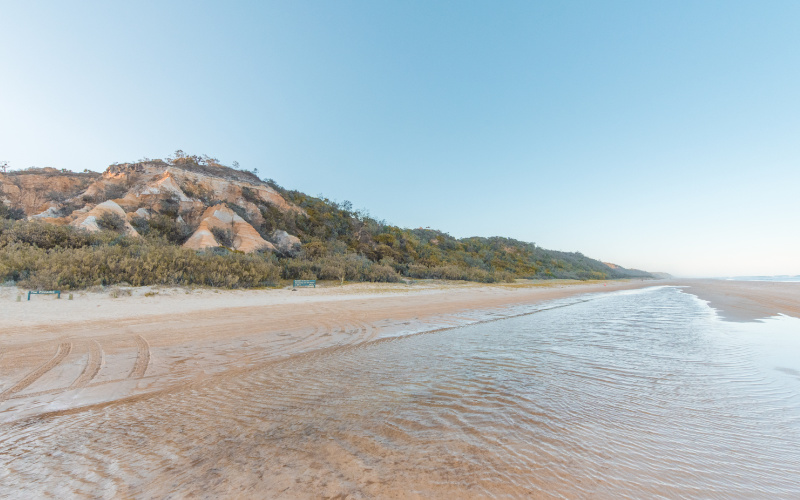coloured sands things to do on fraser island